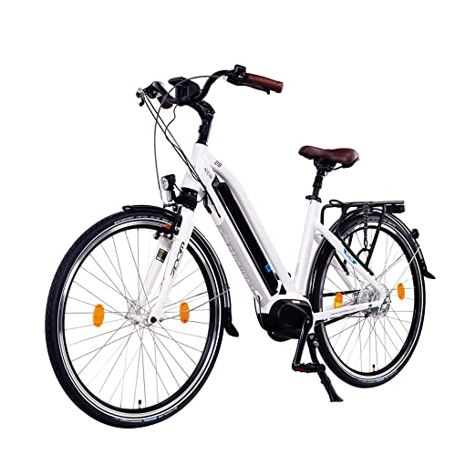 NCM Milano Max 28 pulgadas bicicleta eléctrica Hombre/Mujer Unisex Pedelec, E-Bike, bicicleta de trekking, 36 V 250 W batería de ion de litio con 14 Ah 504 ...