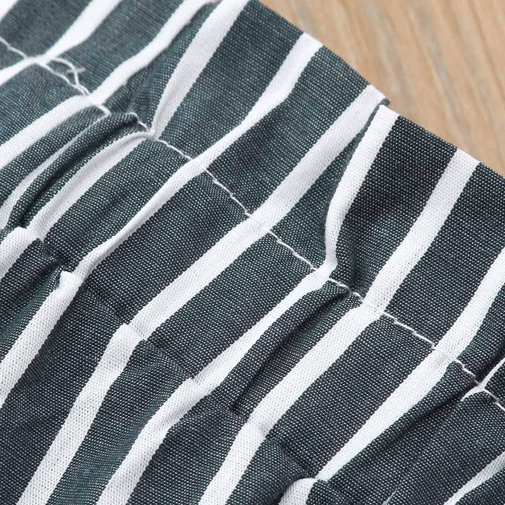 Strisce Cinghia Pantaloni Set Completo Bimbo Estate Abbigliamento Bambino da Cerimonia 1 2 3 Anni Bambini Senza Maniche Sling Lace Lato Aperto Top Cordone Ombelicale
