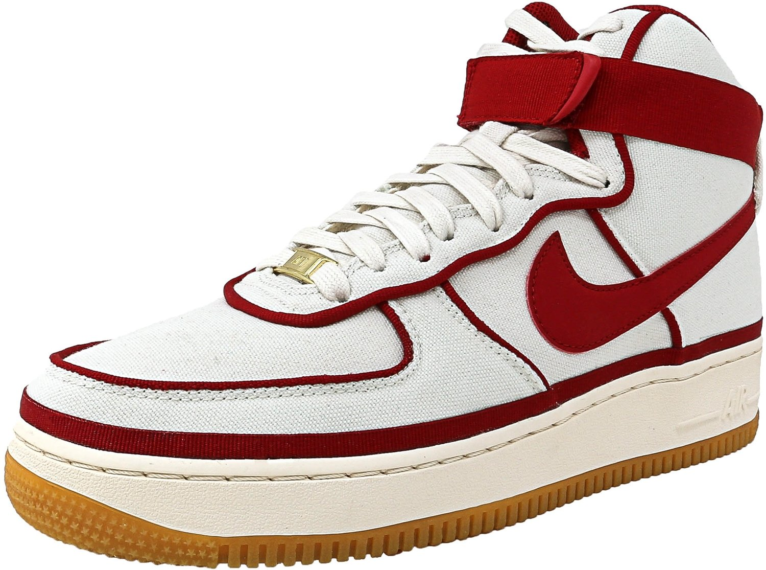new product 2ed46 191bf Galleon - Nike Air Force 1 High  07 LV8 Men s Shoes Sail Gym Red Black  806403-101 (9.5 D(M) US)
