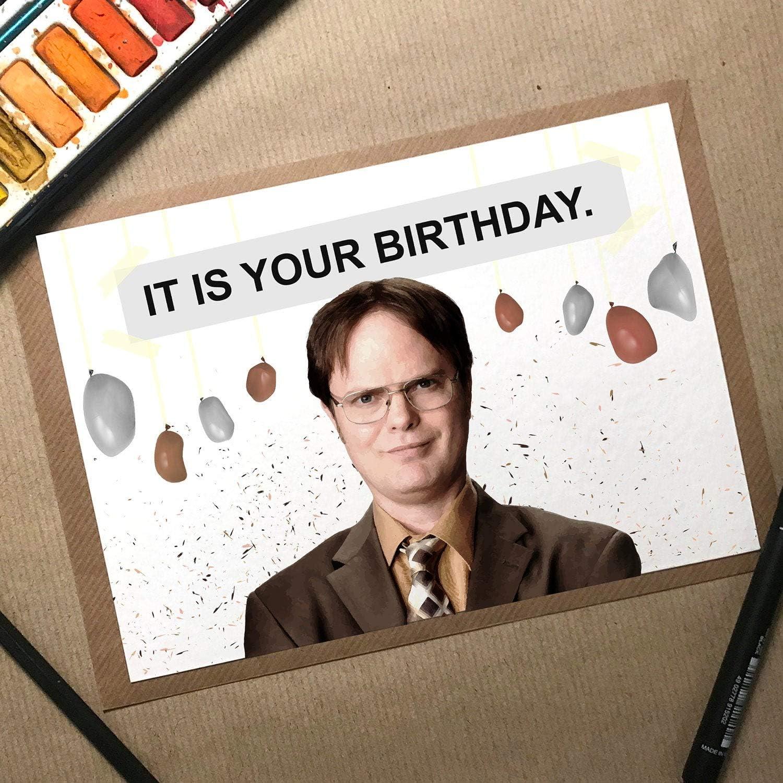 The Office Birthday Card, Dwight Birthday Card, It Is Your Birthday, Birthday Card Boyfriend