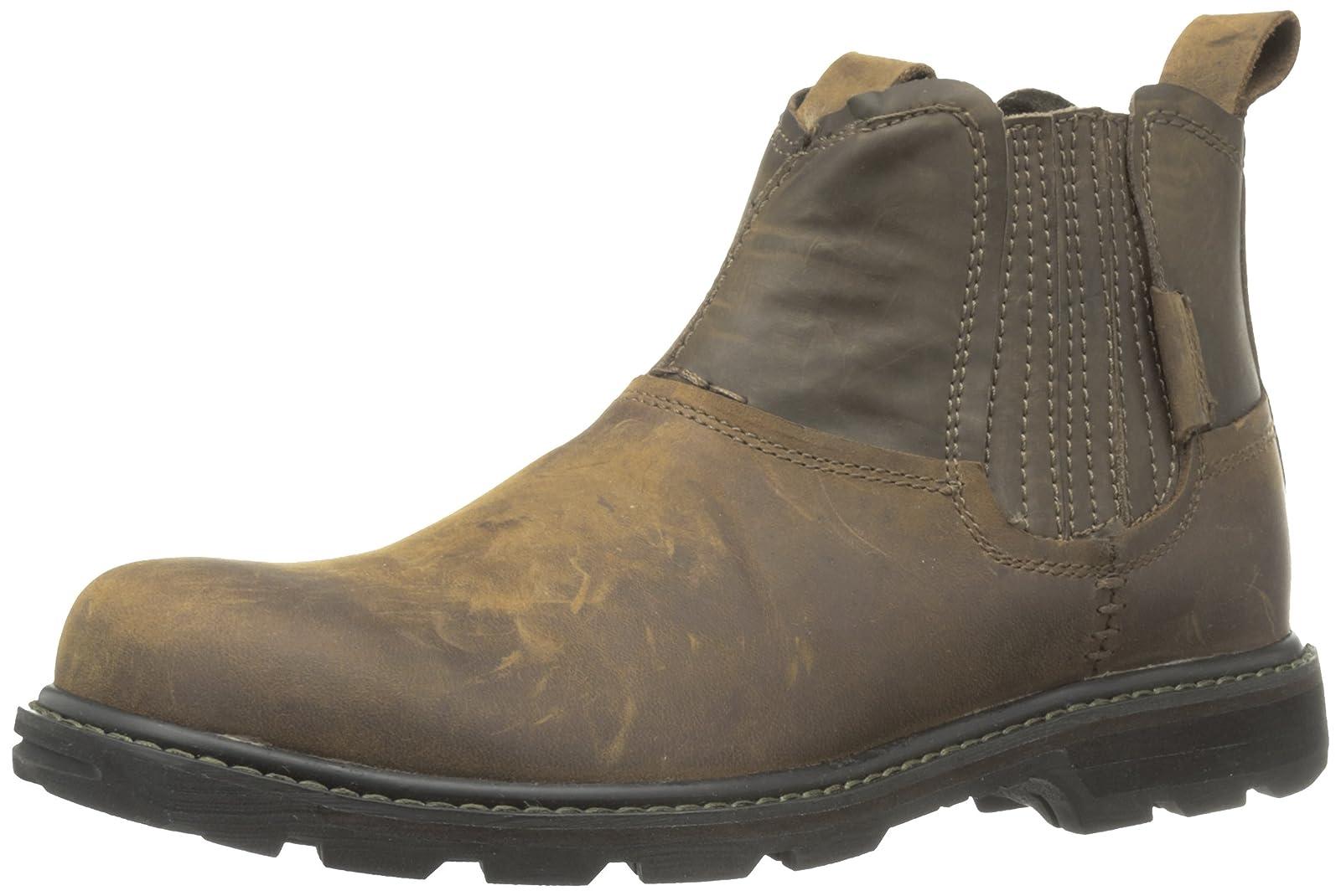 Skechers USA Men's Blaine Orsen Ankle Boot Dark Brown - 1
