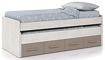 Miroytengo Cama Nido Dormitorio Juvenil Color Unisex con Dos cajones somieres incluidos