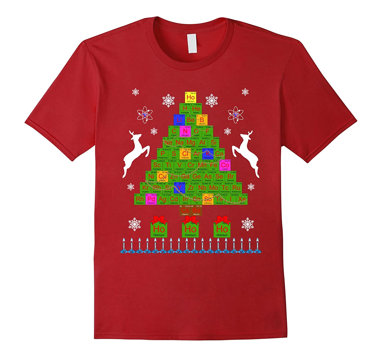 Ugly Christmas Sweater T-Shirt Chemistree Periodic Table-ANZ