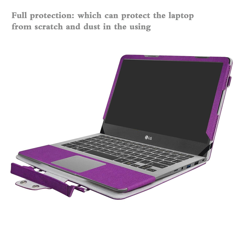 LG gram 15 15Z970 Funda,2 in 1 Diseñado Especialmente La Funda Protectora de Cuero de PU + la Bolsa portátil para 15.6