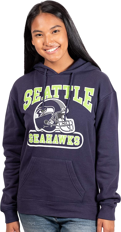 Ultra Game NFL Womens Fleece Sweatshirt Long Sleeve Shirt Reflective Hoodie