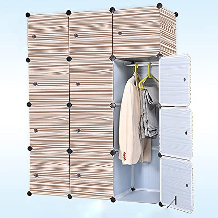 Baisidai Portable Clothes Closet Wardrobe Freestanding Storage Organizer  With Doors , Large Space And Sturdy Construction