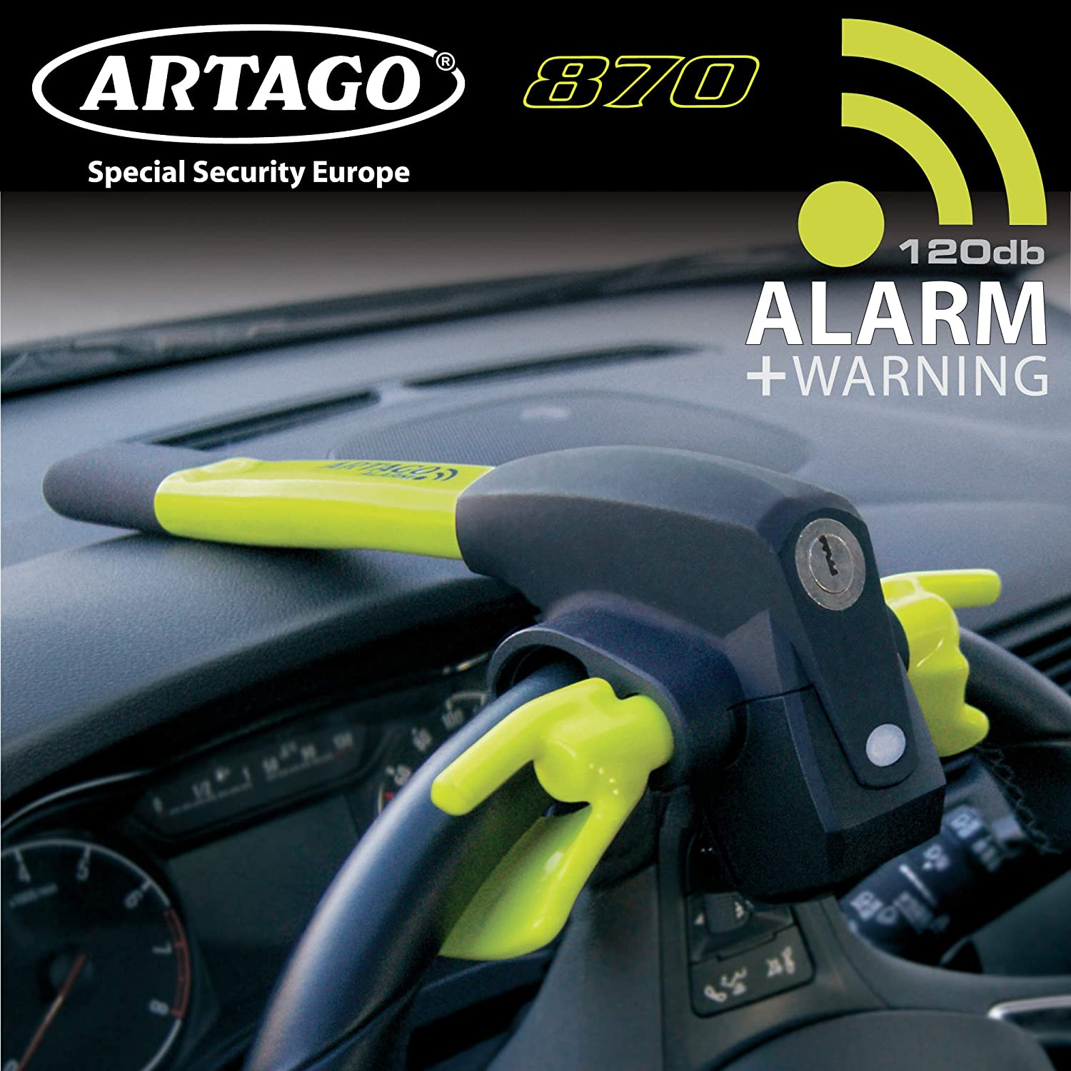Amazon.com: Artago 870 Anti-Theft Car Steering Wheel Dashboard with ...