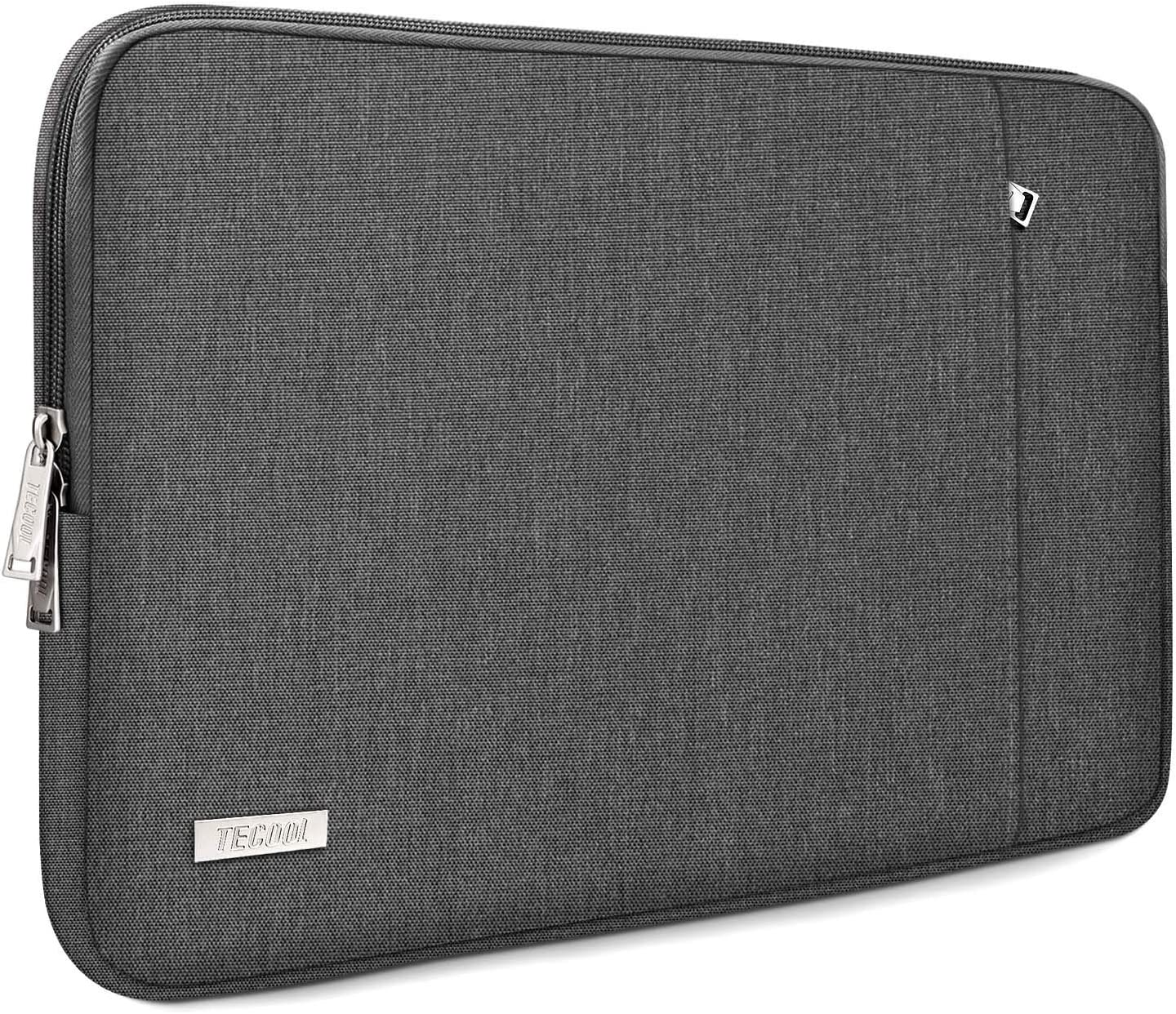 "TECOOL 14 Inch Laptop Sleeve for Lenovo IdeaPad 3/Chromebook/ThinkPad 14"", HP Stream/Pavilion/Elitebook 14, Dell Inspiron 14, 15"" Surface Laptop 3, XPS 15 7590/9500, Samsung Notebook 9 15"", Dark Grey"
