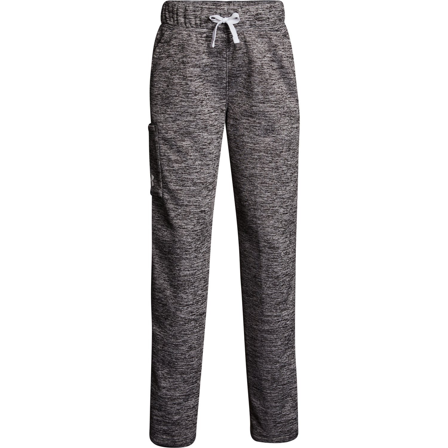 Under Armour Girl's Armour Fleece Pant Stealth Grey/White Size Medium by Under Armour