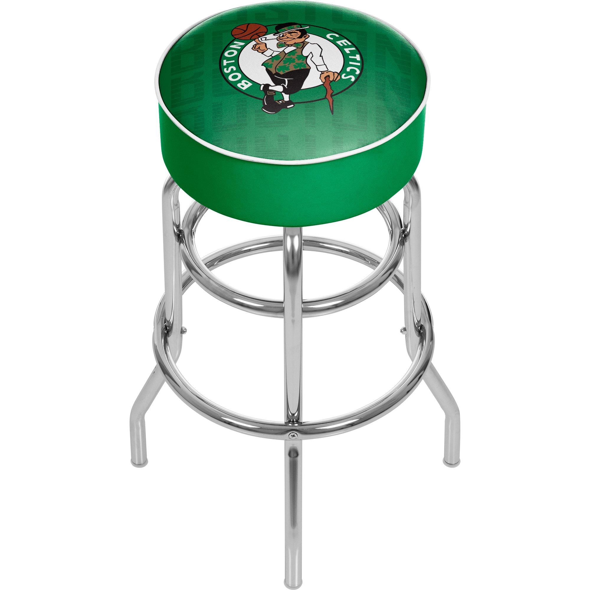 Trademark Gameroom NBA1000-BC3 NBA Padded Swivel Bar Stool - City - Boston Celtics