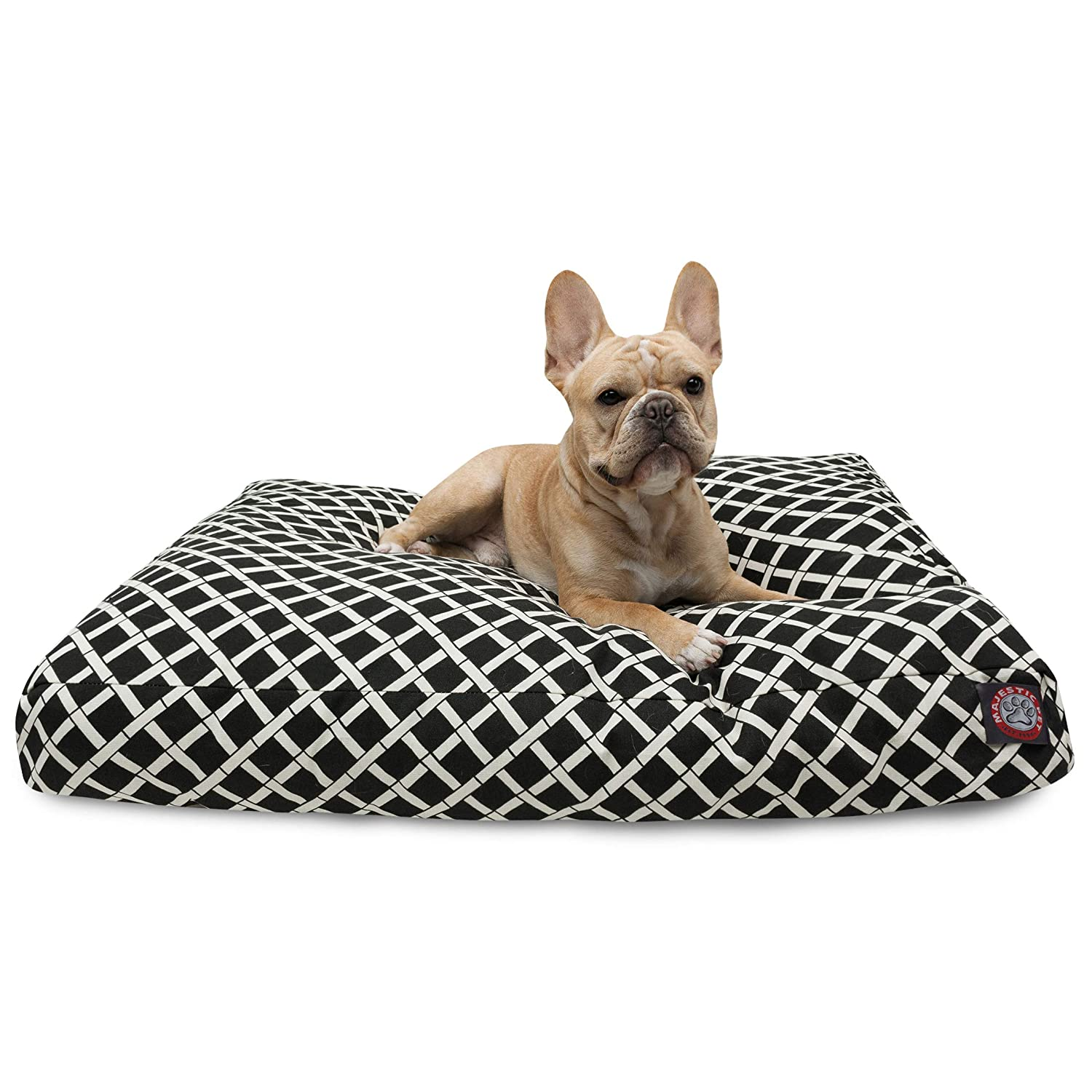 Black MediumMajestic Pet Burnt orange Bamboo Large Rectangle Indoor Outdoor Pet Dog Bed With Removable Washable Cover Products