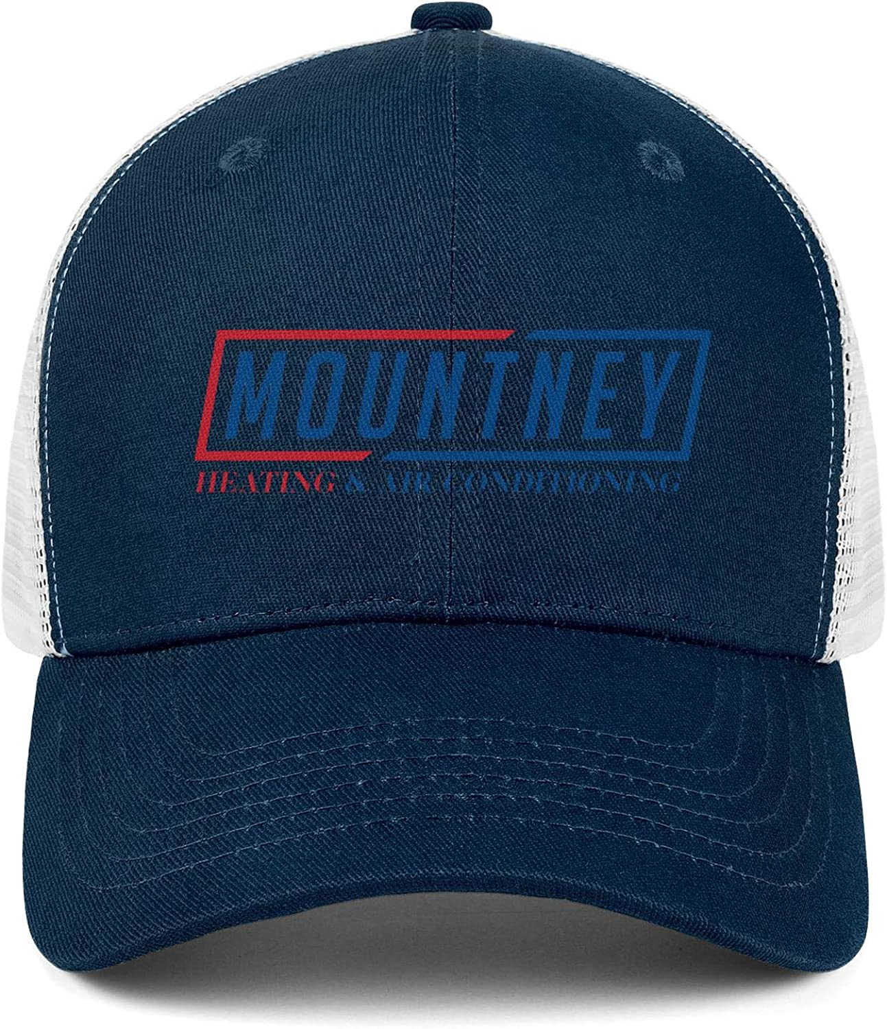 COOLGOOD Mountney Logo Mens Womens Mesh Back Trucker Caps Fitted Dad Hats