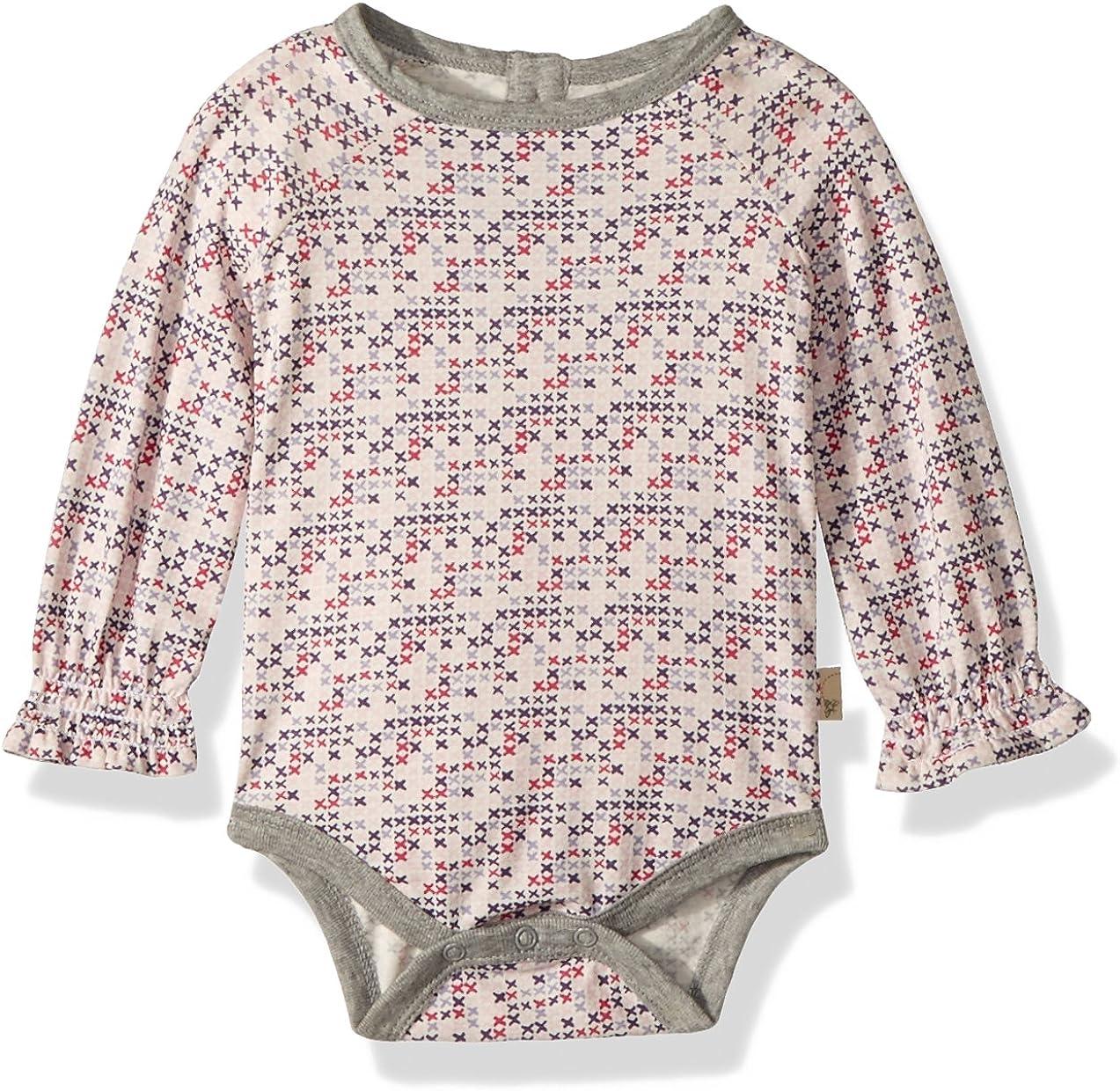 Burt's Bees Baby - Baby Girls Bodysuit, Short Sleeve and Long Sleeve One-Piece Bodysuits, 100% Organic Cotton