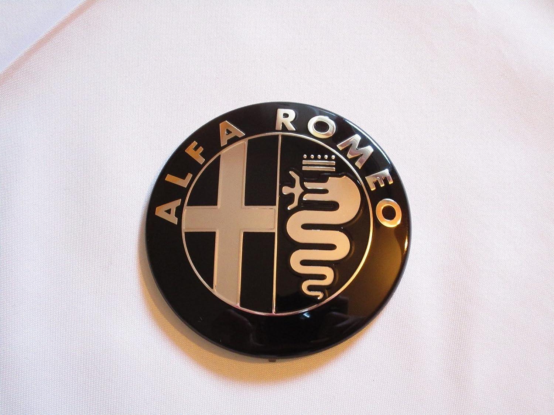 1 LES ARMOIRIES NOIR ALFA ROMEO GIULIETTA GRILLE AVANT OU ARRIÈ RE 159 MITO 147 GT 74 MM