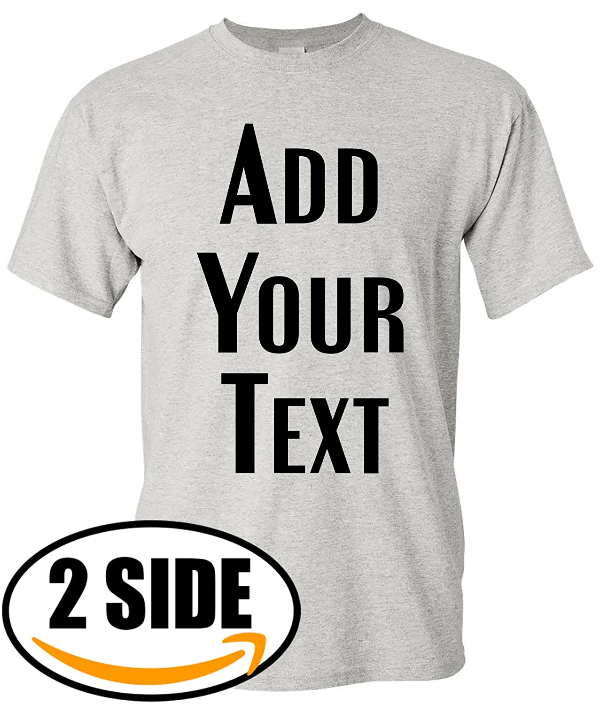 Amazon Teeamore Men Women Custom T Shirt Add Your Text Design