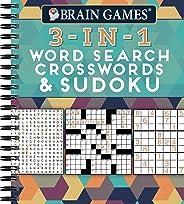 Brain Games - 3-In-1: Word Search, Crosswords & Sudoku
