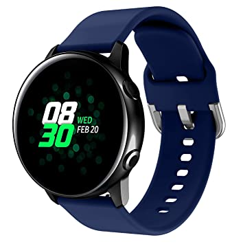 NotoCity 20mm Correa de Silicona Compatible con Samsung Galaxy Watch Active/Galaxy Watch 42mm/Gear Sport/Garmin VivoActive 3 Correa de Repuesto Color ...