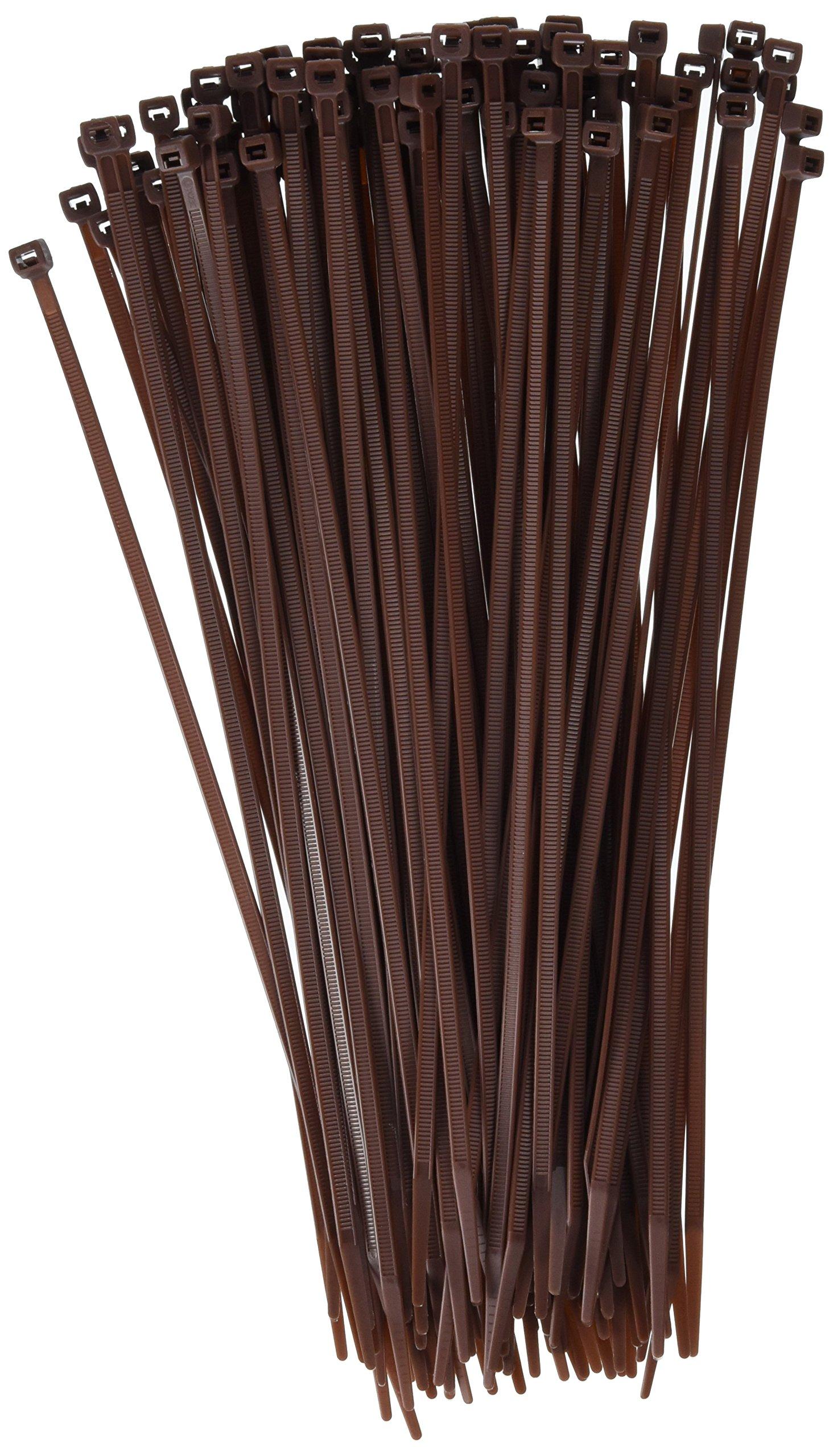11-in, 100-Pack, 75-lb, Dark Brown, Standard Nylon Cable Tie
