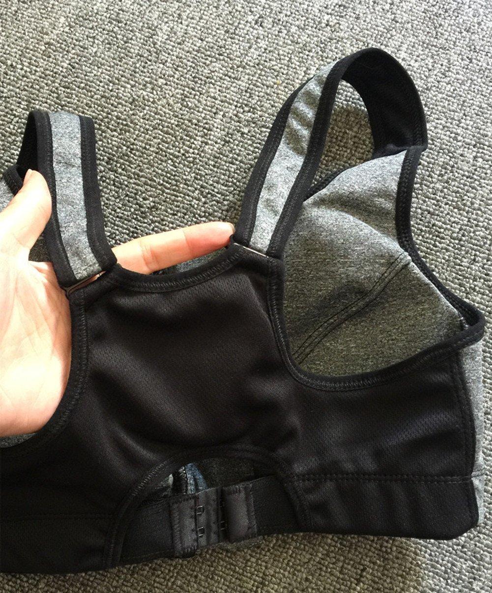 CRAZY Women's Sportswear Set Gym Jogging Bra Outfit Racerback Leggings Top+Pa... by Crazy (Image #3)