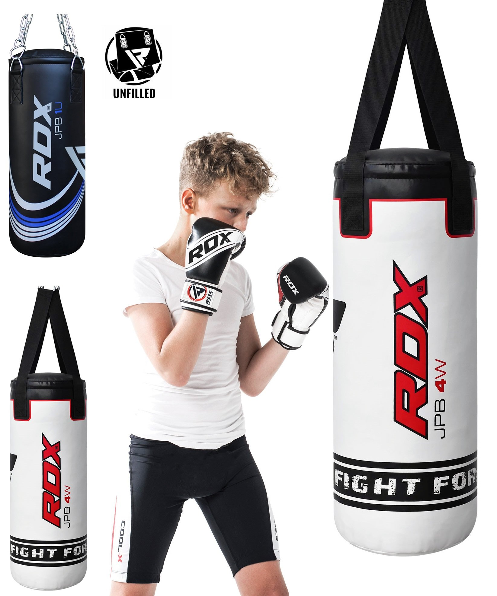 RDX Kids Heavy Boxing 2FT Punching Bag UNFILLED MMA Punching Training Gloves Kickboxing by RDX