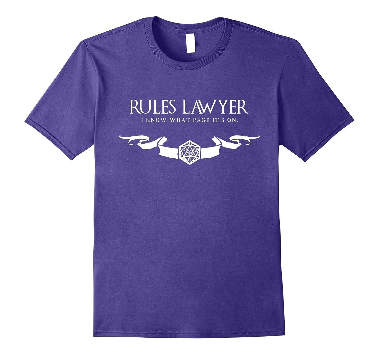 Rules Lawyer T-Shirt RPG Tabletop Board Game Shirt-CD