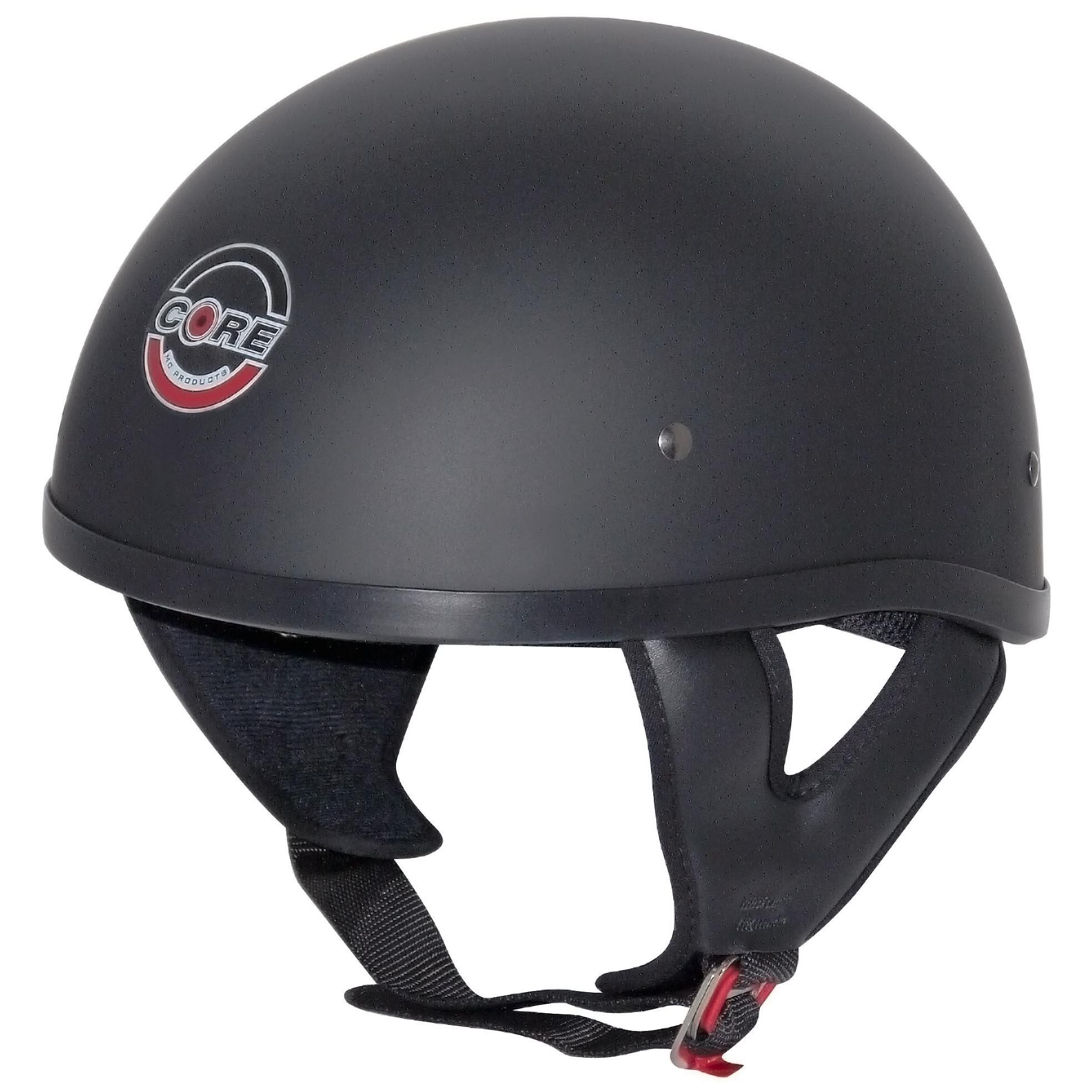 Core Cruiser-X Half Helmet (Flat Black, Large)