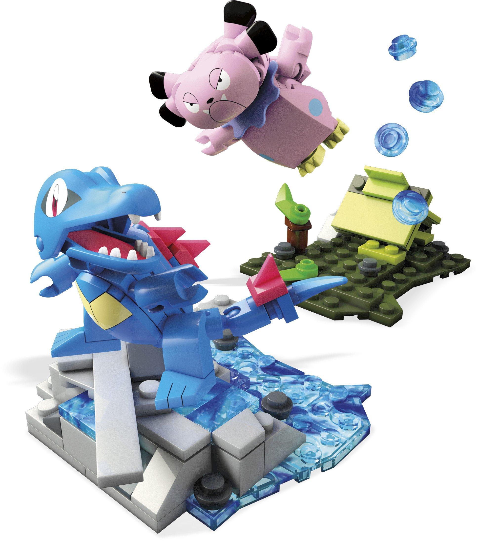 Mega Construx Pokemon Totodile Vs. Snubbull Dom Building Set