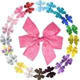 Grosgrain Ribbon Pinwheel Boutique Bow Clips for Toddler Baby Girls Teens LCLHB