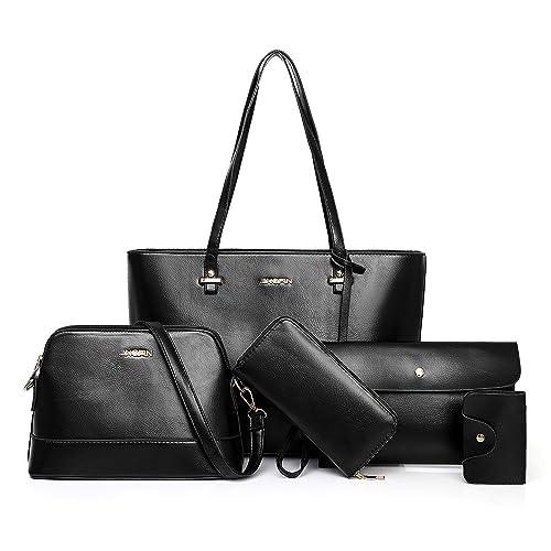 1fb5140100 Women Handbag and Purse Shoulder Bag Tote Bag for Work 5 Piece Set Bag (5pcs