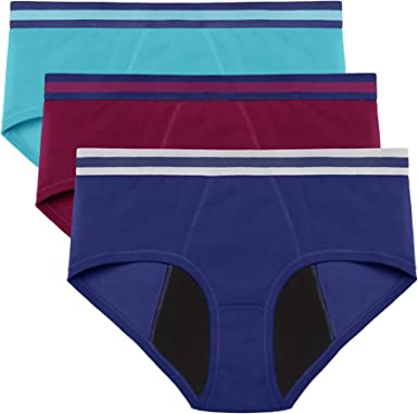 3 Pcs Leak Proof Menstrual Women Underwear Period Panties Seamless Briefs L-6XL