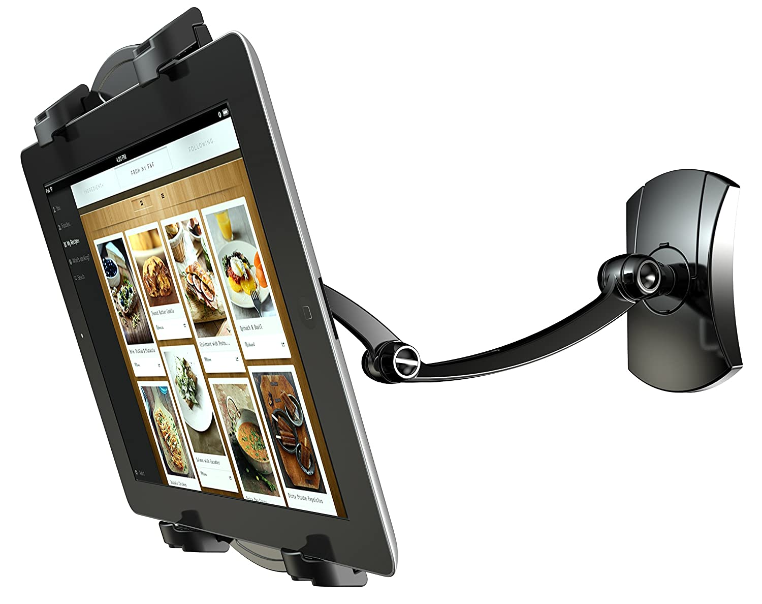 Amazon.com: 2-In-1 Tablet holder Kitchen Mount Wall Stand for 7-12 ...