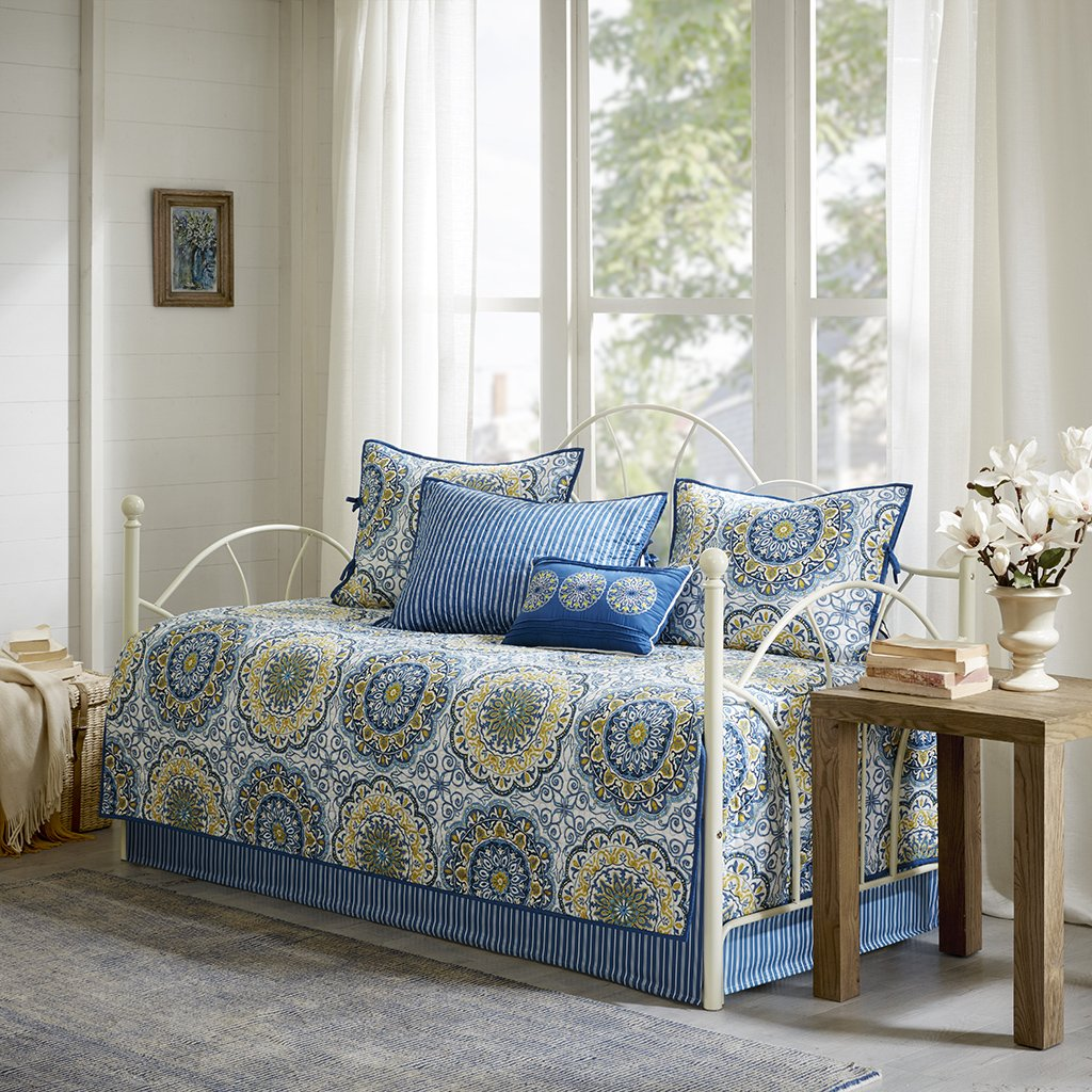 Madison Park Tangiers 6 Piece Daybed Set Blue Daybed MP13-3973
