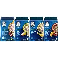 Gerber Baby Cereal Variety Pack - 1 Banana Apple Strawberry, 1 Rice Banana Apple, 1 Oatmeal Banana, 1 Oatmeal Peach…