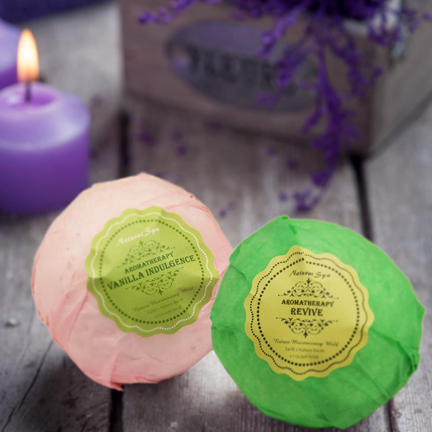 Bath Bombs Ultra Lux Gift Set - 6 XXL Fizzies with Natural Dead Sea Salt Cocoa and Shea Essential Oils - Best Gift Idea for Birthday, Mom, Girl, Him, Kids - Add to Bath Basket: Health & Personal Care