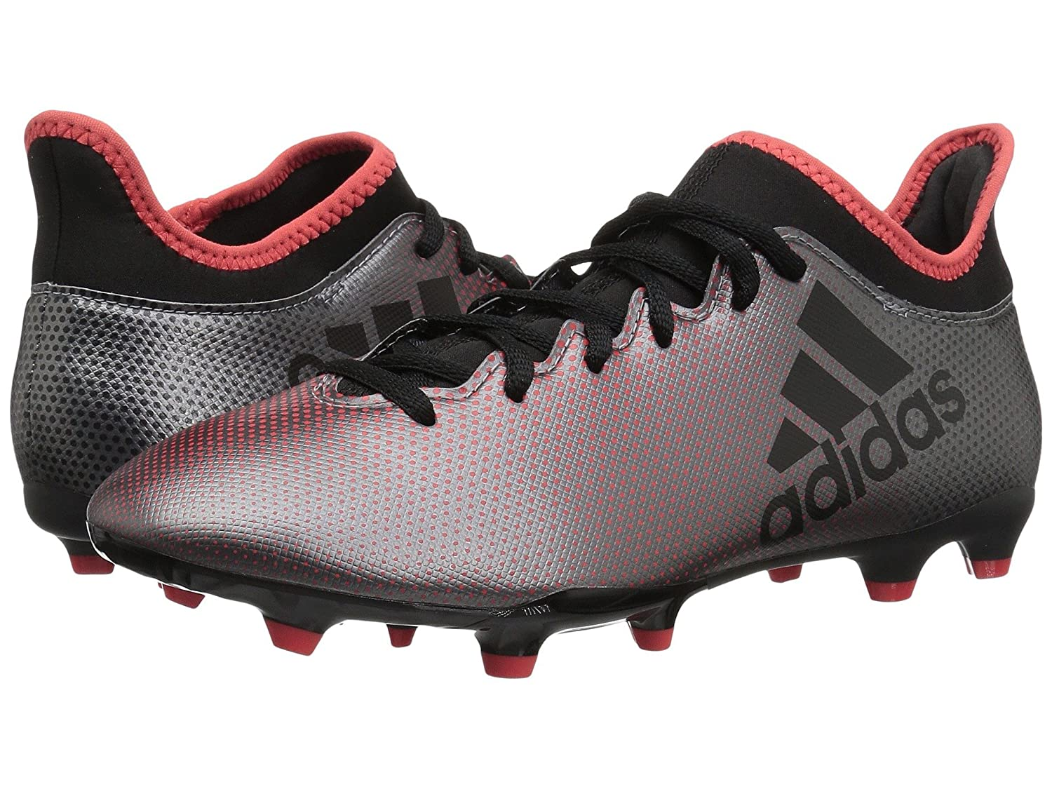 (アディダス) adidas メンズサッカーシューズ靴 X 17.3 FG Grey/Black/Real Coral 13.5 (31.5cm) D Medium B07BQHMJLN