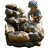 Polyresi ca Dehner Gartenbrunnen Lisa mit LED Beleuchtung 81 x 40.5 x 25.5 cm