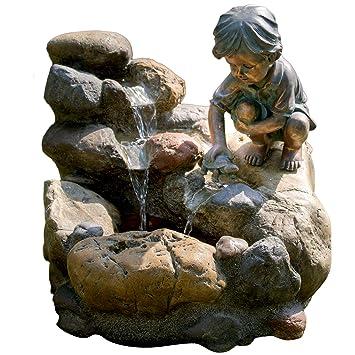 KÖHKO® Wasserspiel Kinderspiel Mit LED Beleuchtung Gartenbrunnen  Springbrunnen Brunnen Für Außen Und Innen