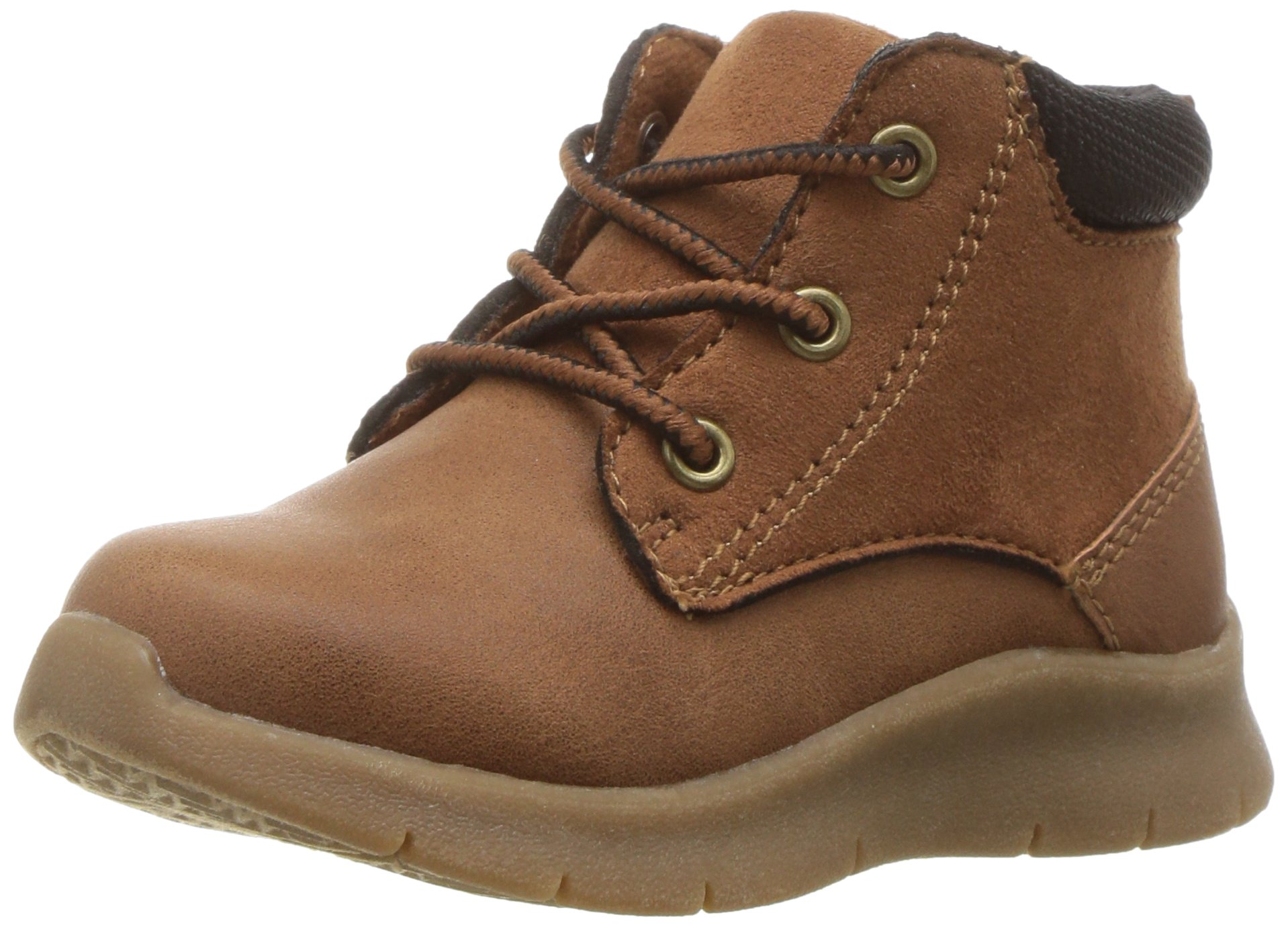 OshKosh B'Gosh Boys' Gud Athleisure Fashion Boot, Brown, 10 M US Toddler