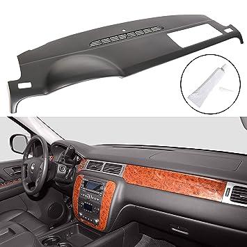 For 2007-2014 Chevy Tahoe Avalanche Suburban GMC Yukon//XL//Denali 2007-2013 Chevy Silverado GMC Sierra Front Molded Dash Cover Cap