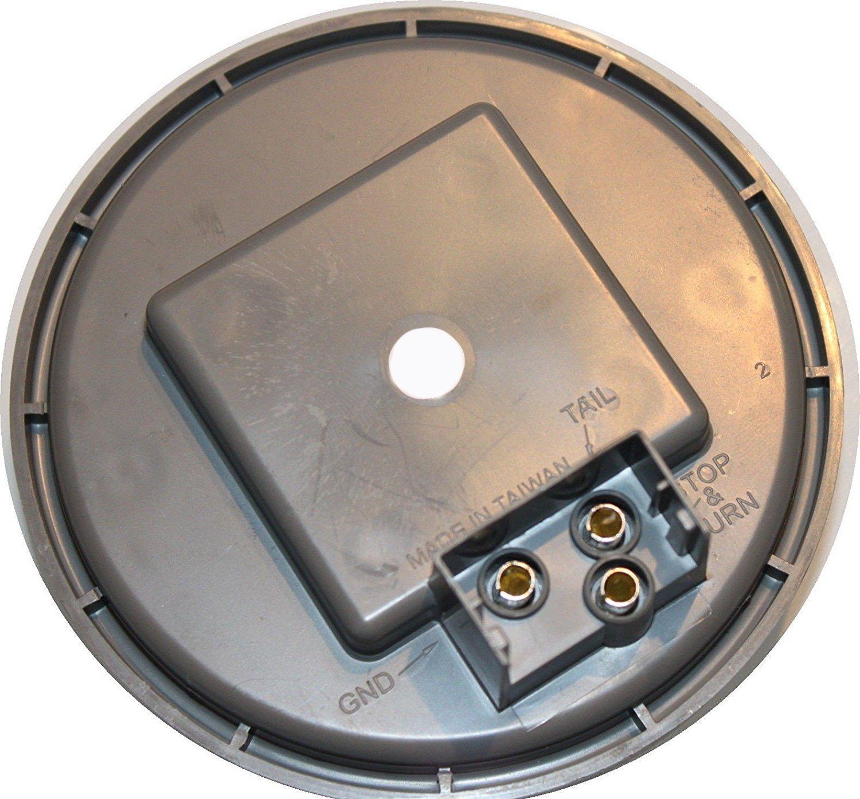 Pair of 2 LED 4'' Round Back-up Reverse Light Kits Include Grommet, Plug Clear Lens White Light Truck Trailer RV 25108C-WK