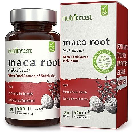 Maca Root 400iu Capsules by Nutritrust® - Sourcing en polvo de Maca Root de alimentos