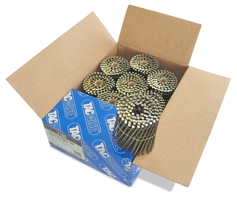 Tacwise 1155 Flach-Schrauben Coilnä gel Glä nzend (3, 8/130mm , 4.000 Stü ck pro Verpackung)