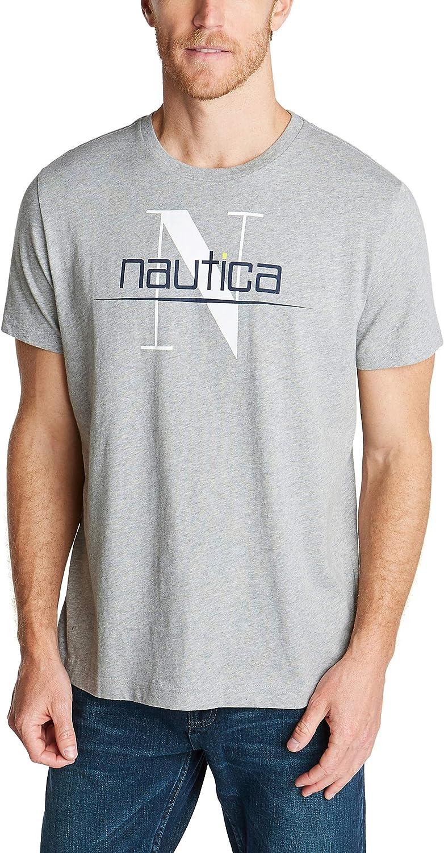 Nautica Men's Crewneck 100% Cotton Logo T-Shirt