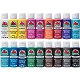 Apple Barrel PROMOABI 18pc Matte Finish Acrylic Craft Paint Set, 2 fl oz / 59 ml, Assorted Colors 1, 36