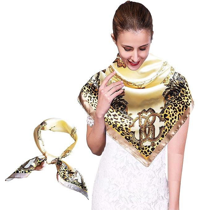 comprare popolare 7a7e3 1dd2d iEverest Foulard Quadrato Seta Donna Grande Sciarpe Quadrato ...