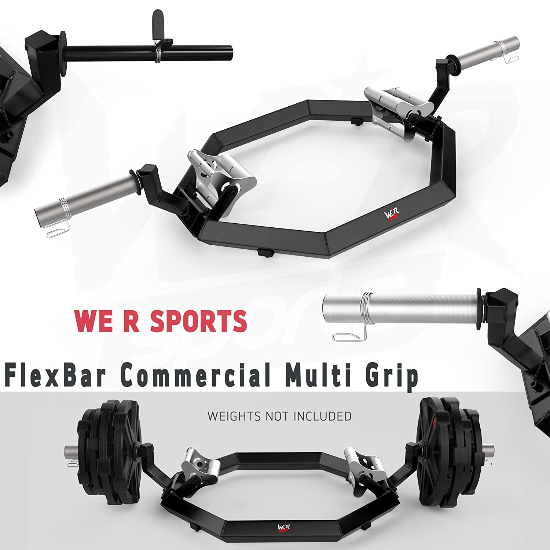 We R Sports® Commercial Multi Grip Super Hex Trap Bar Dead Lift & mit Bar