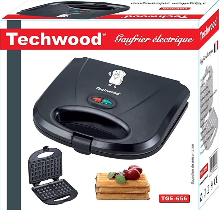 Techwood TGE-656 Gaufrier 24,3 x 23,2 x 9,7 cm: Amazon.fr: Cuisine ...