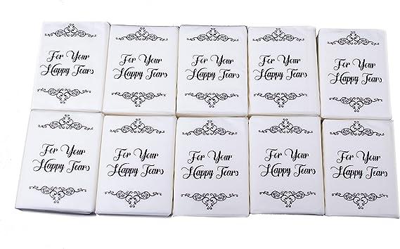 Happy tears tissues 50 pieces of each Wedding fan Wedding stationery Wedding confetti cones