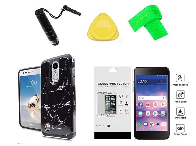 hot sale online c1ec7 422fb Amazon.com: Slim Hybrid Cover Phone Case + Tempered Glass + Extreme ...
