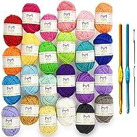 Tools Soft Handle Rainbow Crochet Suit Sewing Supplies Handicrafts Weaving Tools Crochet Sets Rainbow Crochet